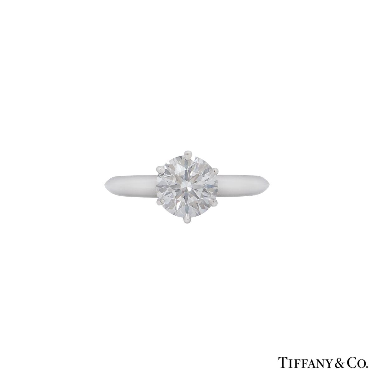 Tiffany & Co. Platinum Diamond Setting Ring 1.22ct D/VS1 XXX